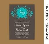 vintage delicate invitation... | Shutterstock .eps vector #660331288