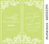 vintage delicate invitation... | Shutterstock .eps vector #660331594