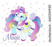 vector illustration with cute... | Shutterstock .eps vector #660334930