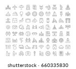 set vector line icons  sign and ... | Shutterstock .eps vector #660335830