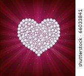 heart from brilliants  on... | Shutterstock .eps vector #66033841