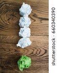 crumpled paper symbolizing...   Shutterstock . vector #660340390