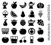 fruit icons set. set of 25... | Shutterstock .eps vector #660342016