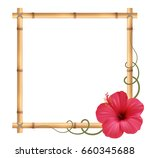 realistic bamboo frame with...
