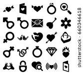 romance icons set. set of 25... | Shutterstock .eps vector #660346618