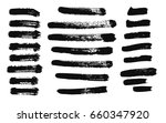 hand drawing brush stroke. set... | Shutterstock .eps vector #660347920