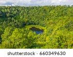 trou aux cerf volcano curipipe... | Shutterstock . vector #660349630