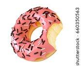 Glazed Donut Or Doughnut With...