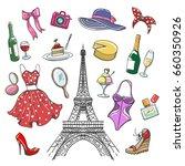 Colorful Paris Fashion Sketch...