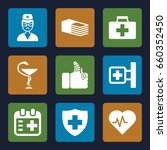 emergency icons set. set of 9... | Shutterstock .eps vector #660352450