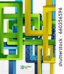 rectangle tube elements  3d... | Shutterstock . vector #660356596
