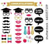 graduation party vector set ... | Shutterstock .eps vector #660357109