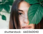 portrait of young beautiful...   Shutterstock . vector #660360040