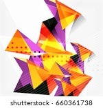 3d triangles and pyramids ... | Shutterstock . vector #660361738