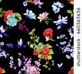 seamless background pattern.... | Shutterstock .eps vector #660365656
