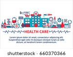 flat line design website banner ... | Shutterstock .eps vector #660370366