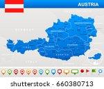 austria map and flag   vector... | Shutterstock .eps vector #660380713