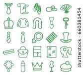 elegance icons set. set of 25... | Shutterstock .eps vector #660381454