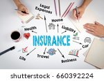 insurance concept. the meeting... | Shutterstock . vector #660392224