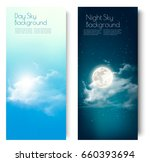 two contrasting sky banners  ... | Shutterstock .eps vector #660393694