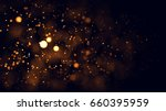 gold abstract bokeh background. ... | Shutterstock . vector #660395959