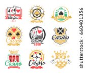 casino logo design  set of... | Shutterstock .eps vector #660401356