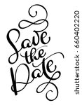 save the date vector vintage... | Shutterstock .eps vector #660402220