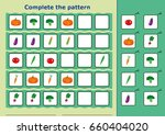 complete the next pattern ... | Shutterstock .eps vector #660404020