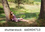beautiful red haired girl... | Shutterstock . vector #660404713