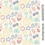 vector color summer seamless...   Shutterstock .eps vector #660405070