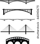 vector  set of bridge black... | Shutterstock .eps vector #66040675