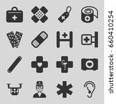 aid icons set. set of 16 aid... | Shutterstock .eps vector #660410254