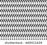 wavy lines seamless vector... | Shutterstock .eps vector #660411634