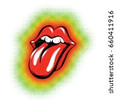 funky tongue out vector... | Shutterstock .eps vector #660411916