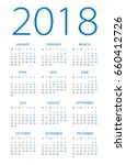 calendar 2018 year   vector... | Shutterstock .eps vector #660412726