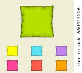 bed pillow templates. set of... | Shutterstock .eps vector #660414256