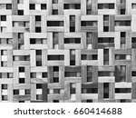 wooden pattern decorated on... | Shutterstock . vector #660414688