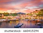 harbor and village  porto... | Shutterstock . vector #660415294