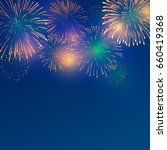 brightly colorful fireworks on... | Shutterstock .eps vector #660419368