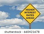 caution sign blue sky... | Shutterstock . vector #660421678