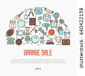 garage sale or flea market... | Shutterstock .eps vector #660422158