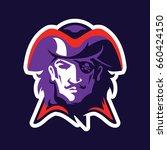 pirate head mascot. logotype of ...   Shutterstock .eps vector #660424150