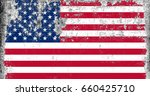 united states of america flag... | Shutterstock . vector #660425710