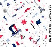 14 july happy bastille day... | Shutterstock .eps vector #660428683
