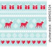 reindeer pattern  christmas...   Shutterstock .eps vector #660431524