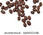 coffee beans close up isolated... | Shutterstock . vector #660432148