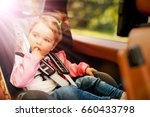 portrait of a child buckled... | Shutterstock . vector #660433798