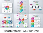 set with infographics. data and ... | Shutterstock .eps vector #660434290