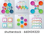 set with infographics. data and ... | Shutterstock .eps vector #660434320