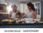 grandmother teaching... | Shutterstock . vector #660434680